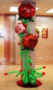 Букет из роз на стеблях - 2