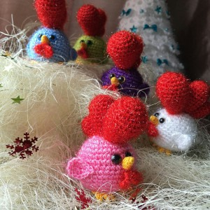 петушки новогодние