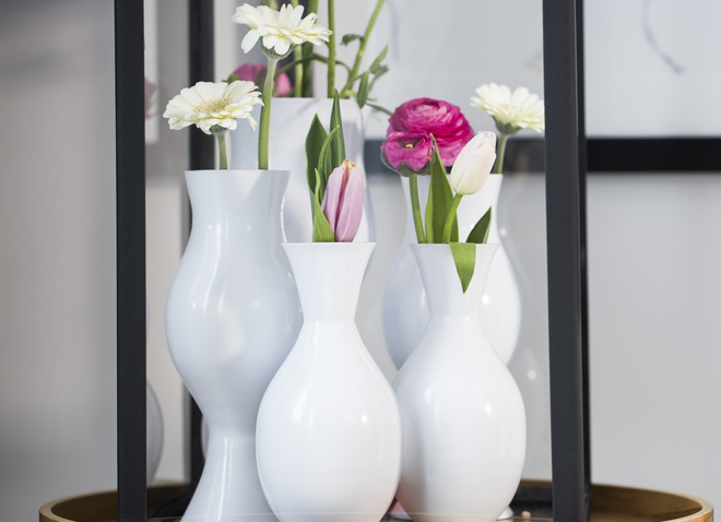 Цветочные вазы в интерьере